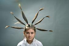 Free Rised Hair Stock Image - 8500001