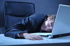 Free Tired Businessman Royalty Free Stock Images - 8500089