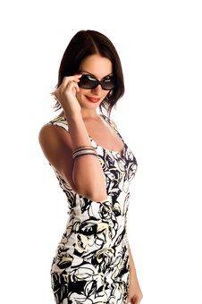 Young Woman Wearing The Sunglasses. Stock Photography
