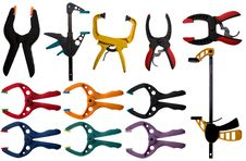 Free Various Types Of DIY Clamps Stock Photos - 8500523