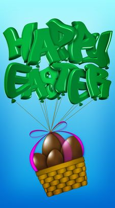 Free Basket Of Easter Chocolate Eggs Stock Photo - 8500740