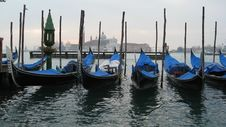 Free Gondolas In Venice Stock Image - 8500771
