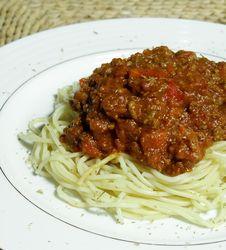 Free Spaghetti To Eat Stock Photos - 8500843