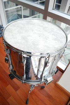Free Silver Snare Drum Close Up Stock Photos - 8500893
