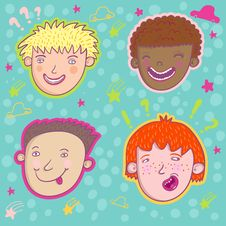 Free Smiling Boys Stock Image - 8500921