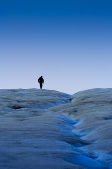 Free Lone Glacier Hiker Royalty Free Stock Images - 8501009