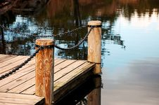 Free Dock On Reflective Pond Royalty Free Stock Photo - 8501755