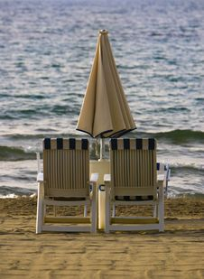 Free Two Beach Chairs Stock Images - 8501774