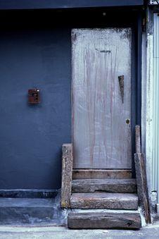Blue Door, Colour Home Building Stock Images