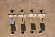 Mailboxes In Santa Fe Royalty Free Stock Photo