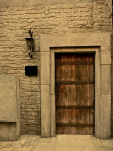 Free Brown Wooden Door, House Related Stock Image - 8501871