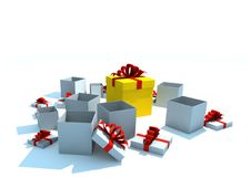 Free Opened Gift Boxes Royalty Free Stock Photo - 8501975