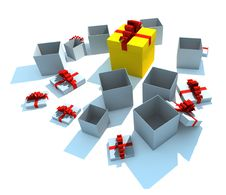 Free Opened Gift Boxes Royalty Free Stock Images - 8501979
