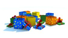 Free Opened Multicolor Gift Boxes Stock Images - 8501984