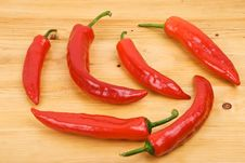 Free Red  Peppers Royalty Free Stock Photos - 8502148