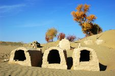 Free Tombs In Desert Stock Photos - 8502323