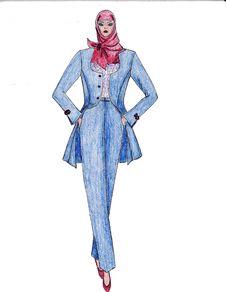 Free Beautiful Illustration Of Moslem S Fashion Royalty Free Stock Photography - 8502357