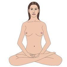 Woman Doing Meditation Stock Photos