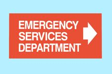 Emergency Services Sign 1 Royalty Free Stock Photography