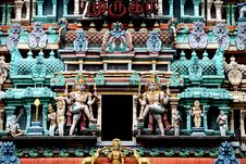 Free Singapore: Sikhara Tower Deities On Hindu Temple Stock Photos - 8503423