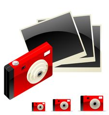 Free Digital Camera With Photos Royalty Free Stock Photo - 8503655