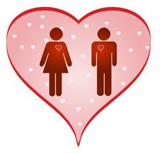 Free Loving Couples And Heart Stock Images - 8504044