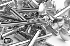 Free Close Up Bolts And Nuts Backround Royalty Free Stock Photo - 8504325