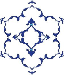 Free Traditional Antique Ottoman Turkish Tile Illustrat Royalty Free Stock Images - 8504909