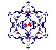 Free Traditional Antique Ottoman Turkish Tile Illustrat Stock Photography - 8504912