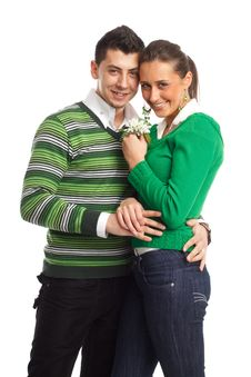 Free Happy Young Couple Stock Image - 8505021