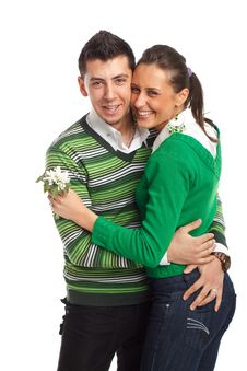 Free Happy Young Couple Stock Photography - 8505052