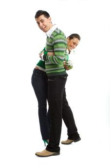 Free Happy Young Couple Stock Photography - 8505062