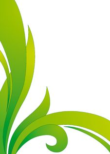 Free Floral Green Vector Background Royalty Free Stock Photography - 8505127