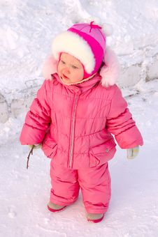 Free Pretty Little Girl In Winter Outerwear. Royalty Free Stock Photography - 8505517