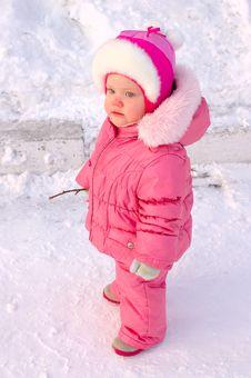 Free Pretty Little Girl In Winter Outerwear. Stock Photo - 8505540