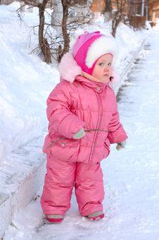 Free Pretty Little Girl In Winter Outerwear. Stock Photo - 8505570