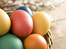 Free Colorful Easter Eggs In A Basket Stock Photo - 8505910