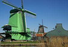 Free View On Windmill For Grinding Pigements, Saw Mill Royalty Free Stock Photography - 8505967