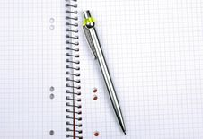 Free Pen On Notebook. Stock Images - 8506454