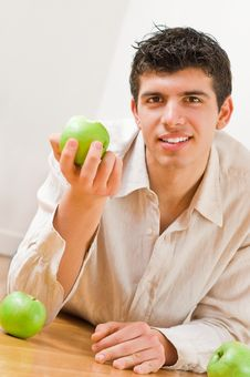 Free Man Eating Apples Royalty Free Stock Images - 8506709