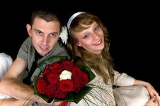 Free Young Happy Wedding Couple Stock Image - 8507291