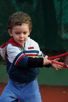Free Tennis Boy Royalty Free Stock Images - 8507759