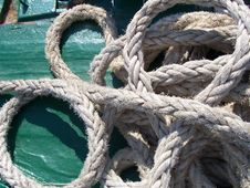 Free Marine Rope Exposure On Board A Ship Stock Images - 8507884