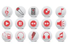 Audio Buttons Royalty Free Stock Photography