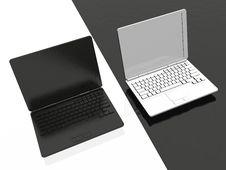 Free Laptops - Black And White Stock Photos - 8508123