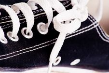 Shoe Lace On Trainer Royalty Free Stock Image