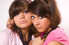 Free Two Girls Emo Stock Photography - 8508602