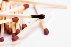Free Burnt Match Royalty Free Stock Photography - 8508797