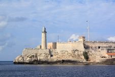 Free The Morro Lighthouse In Havana Bay Stock Images - 8508914
