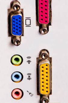 Computer Sockets Stock Photo